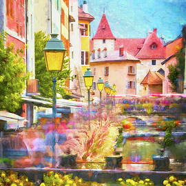 Scenes of Old Annecy France Painterly  by Carol Japp