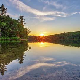 Scenic Massachusetts Walden Pond by Juergen Roth