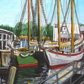 Schooners By The Dock by Eileen Patten Oliver