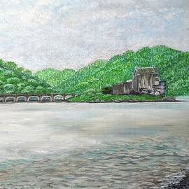 Scottish Castle on the Loch by Mattie Blakely