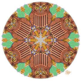 Screech Owl Nature Mandala by Tim Phelps
