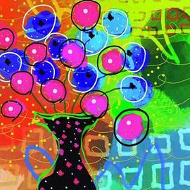 Whimsical Abstract Black Vase by Sarah Niebank