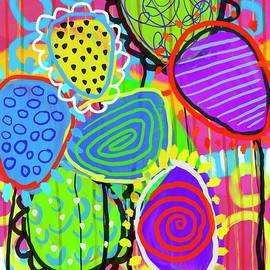 Scribble Abstract Color Balloons by Sarah Niebank