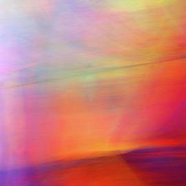 Sea At Sunset Abstract by Douglas Taylor