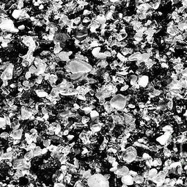 Sea Glass Melodrama in Black and White by Debra Banks