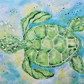 Sea Turtle's Moonlight Swim by Barbara Chichester