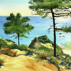 Sea View At Algarve Portugal by Dora Hathazi Mendes