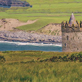 Seaside Tower of Ireland, Painterly by Marcy Wielfaert