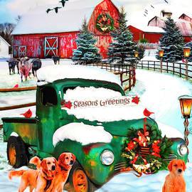 Seasons Greetings Painting by Debra and Dave Vanderlaan