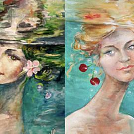 Seasons Winter Spring Summer Autumn Collage painting by Vali Irina Ciobanu by Vali Irina Ciobanu