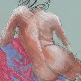 Seated Nude 5 by Cynthia Young