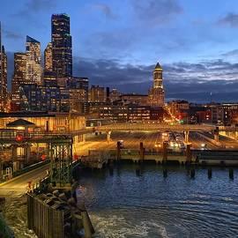 Seattle Ferry Landing by Jerry Abbott