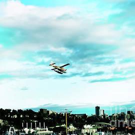 Seattle Seaplane and Skyline by Eddie Eastwood