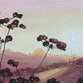 Seedheads and Sugar Loaf by Luisa Millicent
