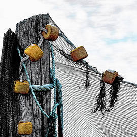 Seine Net and Piling by Marty Saccone