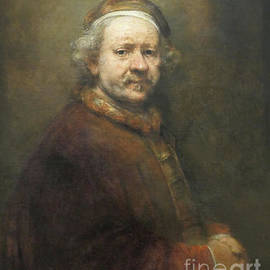 Self portrait of Rembrandt at the end of his life  by Patricia Hofmeester