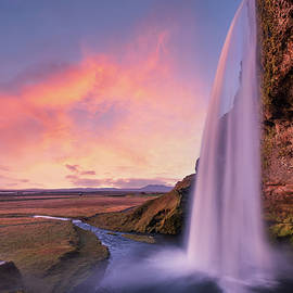 Seljalandsfoss waterfall by Alexios Ntounas