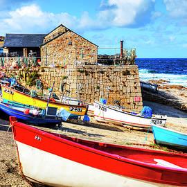 Sennen Cove Harbor Boats by Paul Thompson