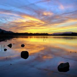 Serenity sunset at the lake. Granada. Spain. Autumn dreams. by Guido Montanes Castillo