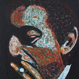 Serge Gainsbourg original painting by Sol Luckman