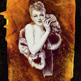 Series Glamour Girls of the Past -Lady  with a Fur Wrap by Grace Iradian