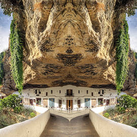 Setenil Andalucia   picturesque village with houses embedded in  by Flavio Vieri