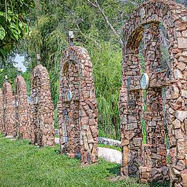 Seven Rock Crosses by Debra Martz