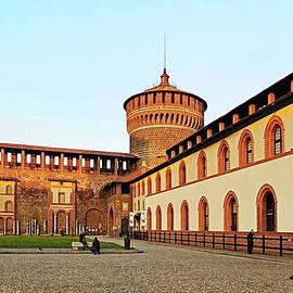Sforza Castle, Milan, Italy by Lyuba Filatova