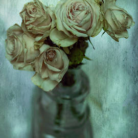 Shades of almost withered roses by Rita Di Lalla