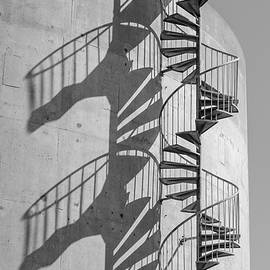 Shadowplay- Spiral Stairs by Bruce Frye