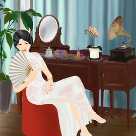 Shanghai Girl in Old Shanghai Glamour - 1920s by Ammi Fong