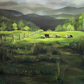 Sheep of Norwich Vermont by Nancy Griswold