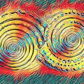 Shells A Fire Abstract by Robert Tubesing