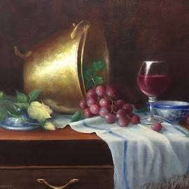 Shiny Pot by Carole E Raymond