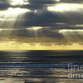 Ship,Surfer,Light Rays by Mark Haynes