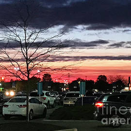 Shopping at Sunset by Karen Adams