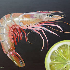 Shrimp And A Lemon Slice by Phyllis Beiser