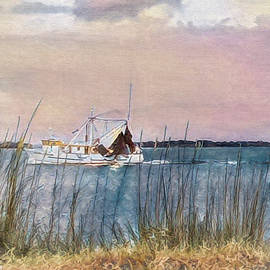 Shrimp Boat From Mayport by Donna Kennedy