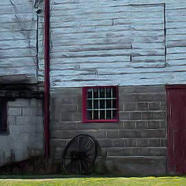 Side Barn Door  by Leslie Montgomery