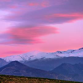 Sierra Nevada. Pink sunset. Veleta 11148 ft by Guido Montanes Castillo