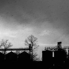 Silhouette of an industrial building by Martin Vorel Minimalist Photography
