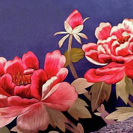 Silk Peonies - Kimono Series by Susan Maxwell Schmidt