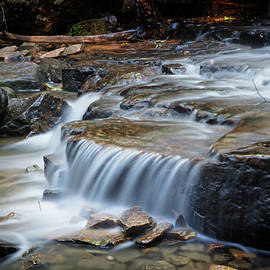 Silky Cascading Waterfall by Debra and Dave Vanderlaan