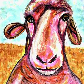 Silly Sheep painting  by Patty Donoghue