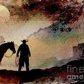 Silouhette Art   Wild West #3 by Elaine Manley