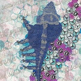 Silver Metal Lace Murex Seashell by Joan Stratton