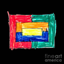 Simple multi colored rectangle by child by Gregory DUBUS