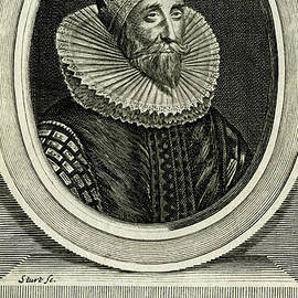 Sir John Coke, Secretary of State to King Charles I - scan of antique engraving by Terence Kerr