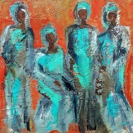 Sisters in Long Dresses by Beth Sebring