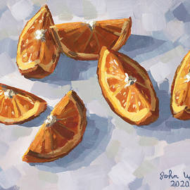 Six Orange Slices by John Wallie
